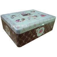 Metal Square Tin Box For Cup Cake Biscuit Storage Manufactures