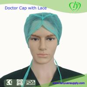 China Disposable Nonwoven Doctor Cap with Lace/Bouffant Cap/Surgical Cap/Doctor Cap/Nursing Cap on sale