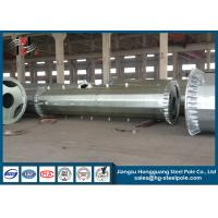 7m - 15m Electrical Power Pole 12 Sides Shape Low Voltage Steel Tubular Pole Manufactures