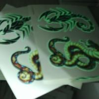 China UV Blacklight Glow In The Dark Face Tattoos Temporary Non Permanent on sale