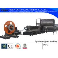 298 mm Corrugated Culvert Pipe Machine With Seaming Lock and Plasma Cutting Manufactures