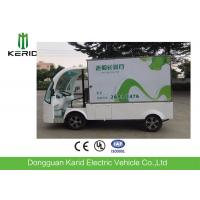 Utility 2 Front Seats Electric Cargo Van With Closed Container 48V 5KW Manufactures