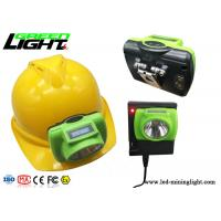 ABS / PC LED Miners Cap Lamp 13000lux Support USB Fast Charge With OLED Screen Manufactures