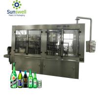 Fully Auto Glass Bottle Beer Filling Machine With Disinfecting Washing Filling Capping Monoblock Manufactures