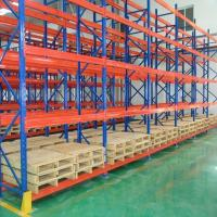 Durable Steel Heavy Duty Pallet Racks Warehouse Storage Shelving Powder Coating Surface Manufactures