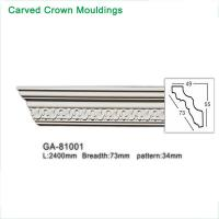 China Factory sales home interior decorative pu cornice/ carved crown moulding on sale