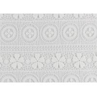 Polyester Water Soluble Lace Fabric With Linear Lace Designs For Ladies Party Dress Manufactures