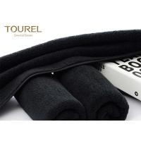 Black Eco Friendly Comfortable Sports Hand Towels Microfiber Embroidered Hand Towels Manufactures