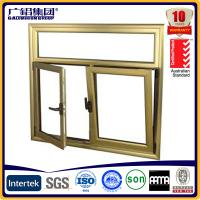 Wood color Aluminium double glazed windows for tilt and turn aluminium window (Guang zhou)