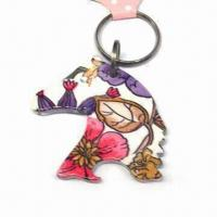 Horse Design Keychain, Customized Logos are Accepted, Made of Alloy and Plastic Manufactures