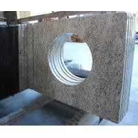 Thailand Golden Seasame Granite Bathroom Vanity Tops with Sink for Commercial hotal project Manufactures
