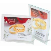 Curved Edge Acrylic Sign Holder With Silver Screws 8.5*11 Inch (CS-ST-799383) Manufactures