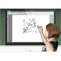 Classroom Electronic Interactive Whiteboard With Finger Touch , 10 Points Manufactures