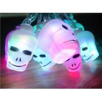 China battery operated outdoor christmas light with 10leds colorful skull on sale