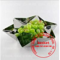 China Stainless steel fruit plate,fruit tray,fruit basket,fruit dish,fruit pots,fruit bowl,compote,calathus,metal fruit plate on sale