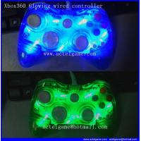 Xbox360 Glowing wired controller LED Flash light game accessory Manufactures