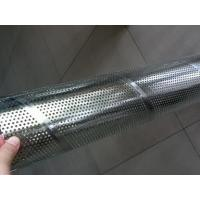 China Galvanized Steel Spiral Perforated Tube , Perforated Muffler Tubing ASTM GB DIN on sale
