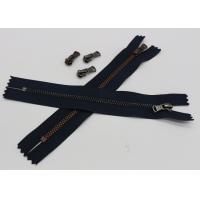 Black Tape Extra Long Invisible Zipper , Women Dress Closed Ended Metal Zips Manufactures