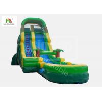 12 Stair Inflatable Water Slip And Slide With Pool PVC Tarpaulin EN14960 Manufactures