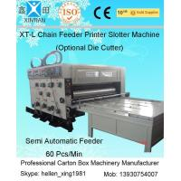 Sticker Printer Machine Flexo Printer Slotter Chain Feeding Model Manufactures