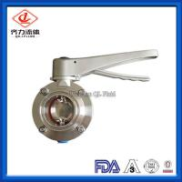 Centre Sealing Pneumatic Butterfly Valve With Trigger Handle Clamp End B5101 Series Manufactures