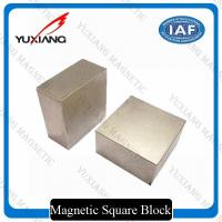 Tin Coated Neodymium Block Magnets N35 - N52 Grade Customized Dimension Manufactures