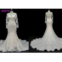 long sleeves customize made lace application bridal gown wedding dresses Manufactures