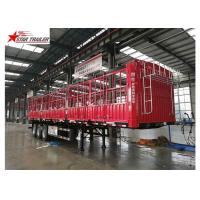 Cargo Stake Side Wall Semi Trailer 60T Heavy Duty Load Manufactures