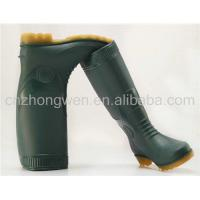 Green PVC Safety Rain Boots Manufactures