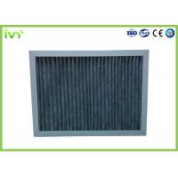 High Carbon Content Pleated Air Filters , Chemical Air Filter For Air Conditioner Manufactures