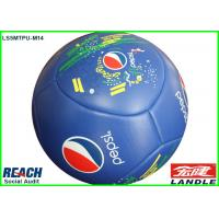China Customize Blue Coolest Soccer Balls , 16 Panel Soccer Training Balls on sale