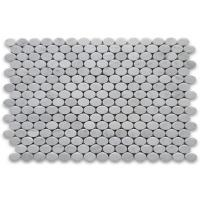 30x30cm Marble Mosaic Floor Tile , Round Mosaic Tiles Easy Installation Manufactures