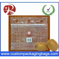 Customized Clear PE slider Fresh Fruit Packaging Bags With Hole Manufactures