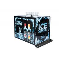 Black Metalic Shot Chiller Dispenser With Customized Decorative Sticker Manufactures