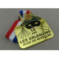 Gold Belgium Carnival Celebration Medals Badge , Zinc Alloy Sports Medals Manufactures