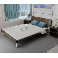 Quality Mealmine board Simple double plate bed 1.8 meters in Nordic design adult bed 1.5m IKEA tatami single bed with Iron legs for sale