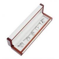 Matte Painting Wooden Gift Boxes , Bracelet Woodworking Jewelry Box For Gifts Manufactures