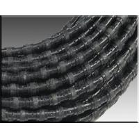 diamond wire saw for marble block squaring with 37 beads Rubber fixing Manufactures