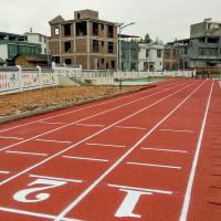 China OEM Running Track Surfaces , Synthetic Athletic Track Acid Resistance on sale