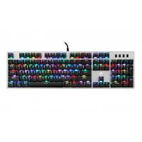 GK100S RGB Backlight Keys Wired Gaming Keyboard Aluminum Bezel Anti Scratch Manufactures