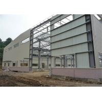 Hot Rolled Steel Frame Workshop , Pre Built Metal Shops Ready Made Structural Sections Manufactures