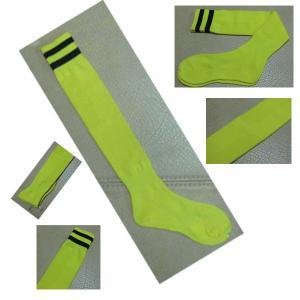 Black Athletic 100 Cotton Childrens Football Socks Knee High Sport Socks Manufactures