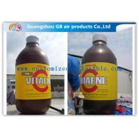 Giant Bottle Outdoor Inflatable Advertising Signs Strong PVC Tarpaulin Manufactures