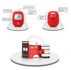 Ce Iso 15197 Blood Glucose Level Testing Kit 1.11 - 33.3 Light Warning Voice Reminder Manufactures