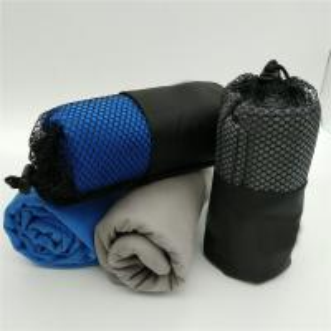 China 2018 Custom Logo Hot Selling Lightweight Blue Microfiber Sports Towel for Travel on sale