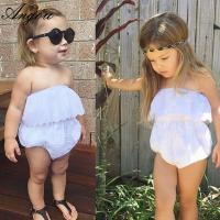 Buy cheap Angou baby girls cute rompers INS lace pretty jumpsuits infant toddler girls from wholesalers