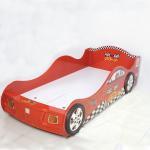 Cartoon Bedroom / Kids Playroom Furniture Children Racing Car Bed With LED Lights Manufactures