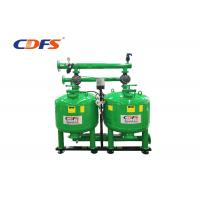 Manual Auto Backwash Sand Filter , Green Pressure Sand Filter Water Treatment  Manufactures