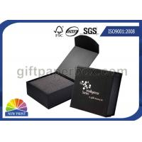 Black or Red Custom Jewelry Gift Box with Logo Printed for Wedding Ring Packaging Manufactures