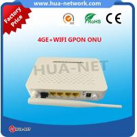White 4GE CATV ont wifi gpon FTTH Solution Manufactures